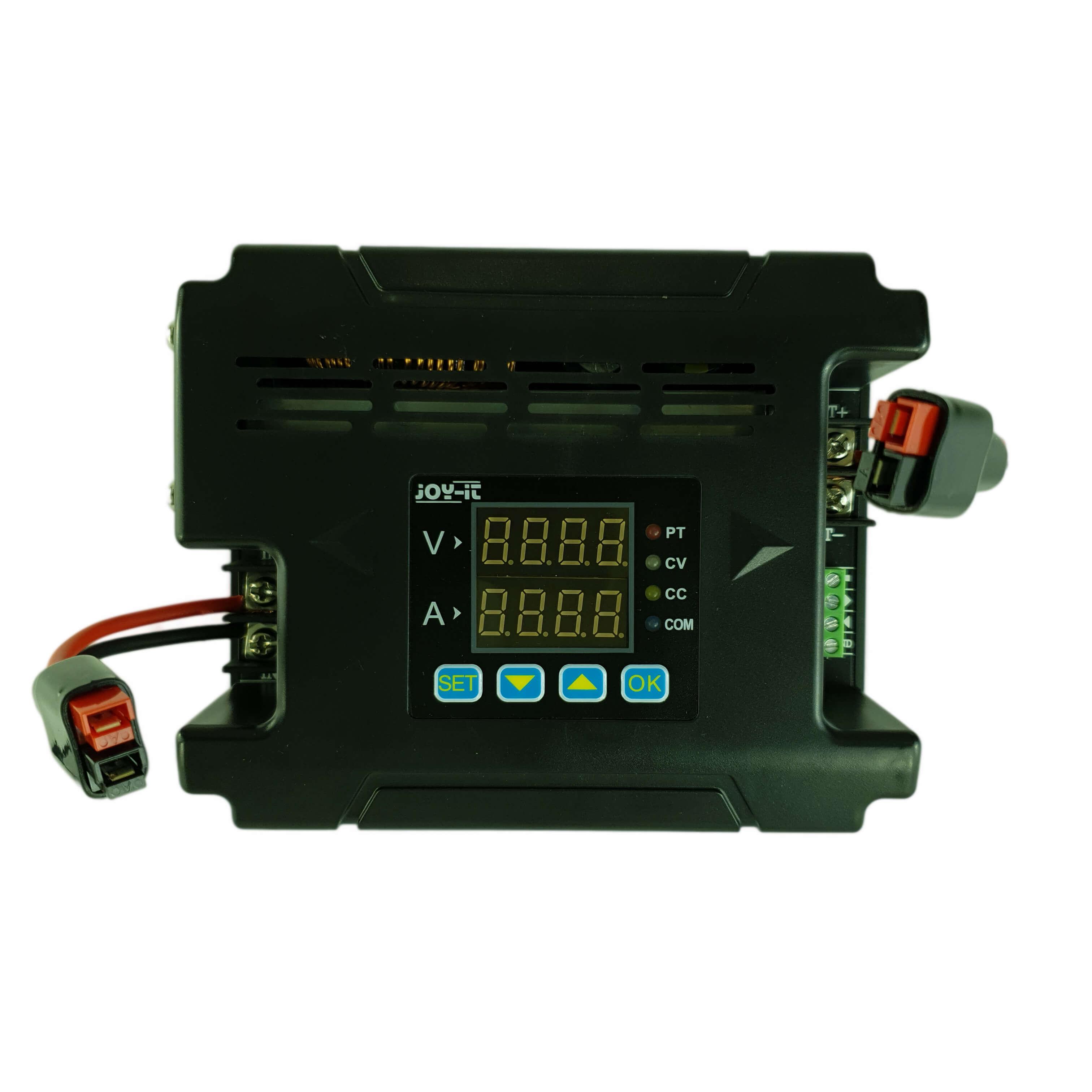 Mithilfe des Spannungsreglers kann die Ausgangsspannung des Oekotrainers auf 14,4 Volt stabilisiert werden.